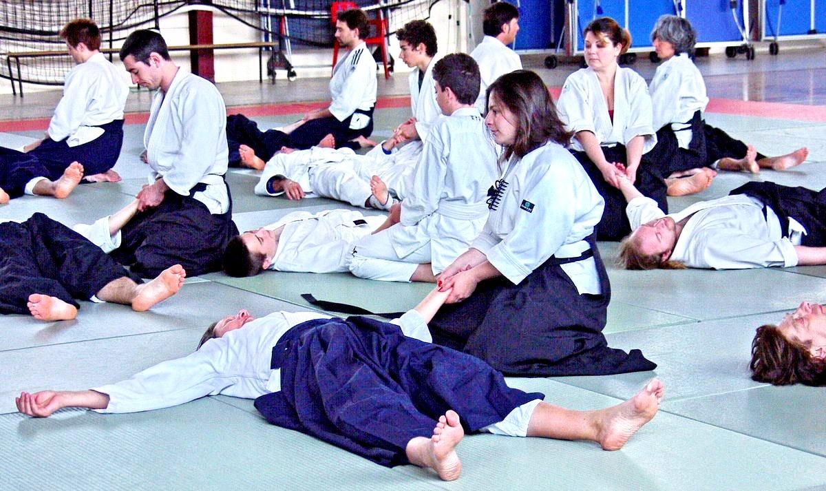 Taïkido le ki dans le corps au dojo Alain Peyrache sensei dojo de Lypn 69